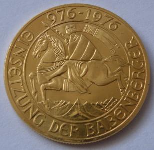 AUSTRIA 1000 Szylingów rok 1976. ZŁOTA MONETA.
