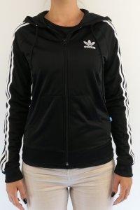 adidas Bluza z kapturem Slim Hoodie czarny