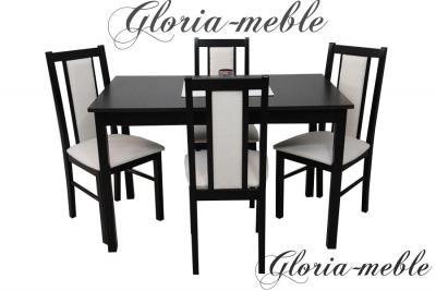 4 krzesła i stół 70x120cm Zestaw EDERA 22, TANIO!!