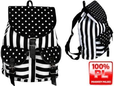 389d5b7fe7993 Plecak szkolny plecaki młodzieżowe retro PUNK - 4058831635 ...