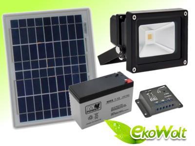 Zestaw Solarny Oświetlenie Solarne Led Lampa