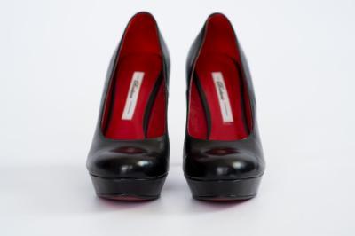 42ff7282 Buty Badura 37 czarne czółenka czerwona podeszwa - 5585361537 ...
