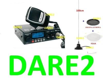 CB RADIO ALAN 78 + HUSTLER IC100 oryginał + GUMA