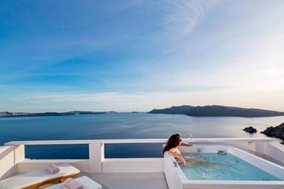 Luksusowy apartament z jacuzzi, Santorini, Grecja