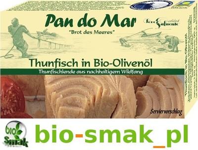 TUŃCZYK W BIO OLIWIE Z OLIWEK 120 g PAN DO MAR