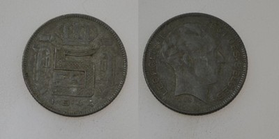 Belgia 5 Frank 1944 DES rok od 1zl i BCM