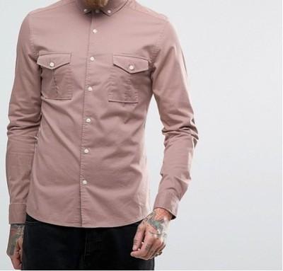 h52 koszula exASOS skinny fit casualowa XL
