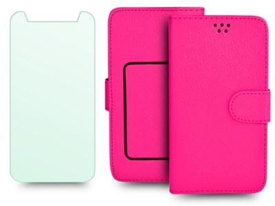 Etui portfelowe + SZKŁO HTC One A9