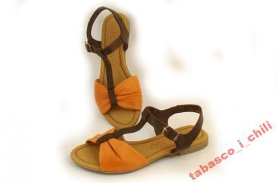 1186e6dc Ryłko S0GR2V _FX8 brąz pomarańcz sandały - 37 - 4276092188 ...