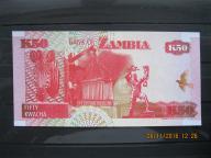100. Banknot  Zambia 50 kwacha  UNC