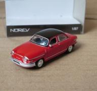Norev 1:87 Panhard PL17 1961 red with black roof
