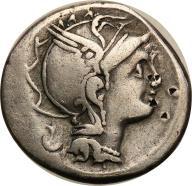 Rzym - Republika AR-denar 111/110 p.n.e. Rzym st3-