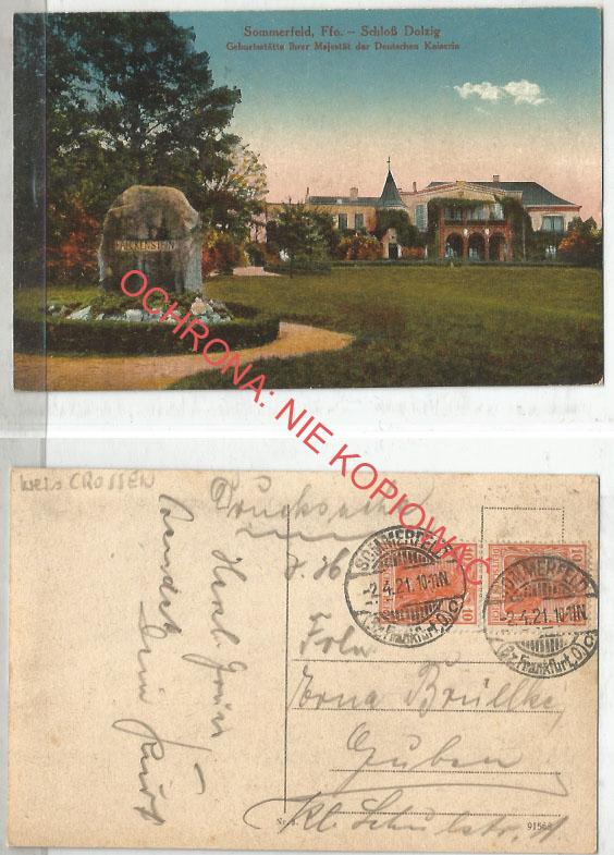 Lubsko, Pałac Dłużek, obieg 1921
