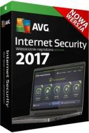 AVG Internet SECURITY 2017 PL 1Rok 4PC ! Nowy !!