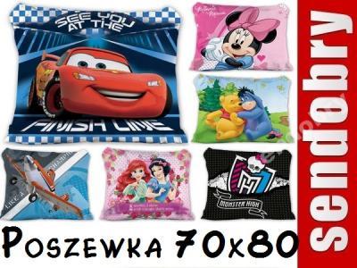 Poszewki Poszewka 70x80 Dla Dzieci Cars Princess 4029244283
