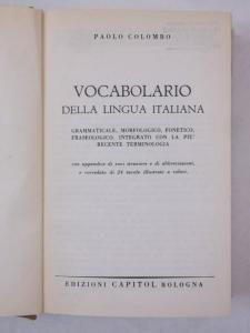 Colombo Paolo - Vocabolario Della Lingua Italiana