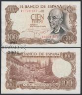 MAX - HISZPANIA 100 Peset 1970 r. # XF+