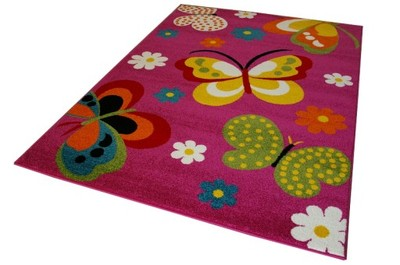 Motyle Motylki Dywan Dzieci 120x170 Butterfly 3d 5961450156