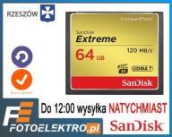 SANDISK EXTREME 64Gb 120Mb/s CompactFlash RZESZÓW