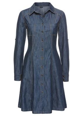 71a6cc7544 Sukienka dżinsowa niebieski 46 3XL 978424 bonprix - 6997809199 ...