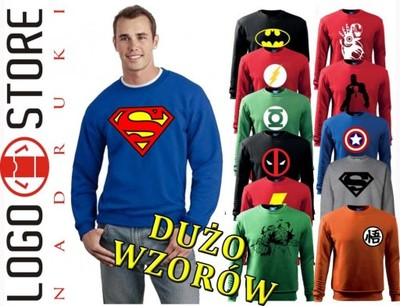 1c5b41c7e BLUZA SPIDERMAN SUPERMAN BATMAN PUNISHER GOKU M - 5663165337 ...