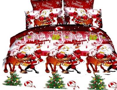 Pościel 3d 160x200 Prześcieradło świąteczna Hit 6632053512