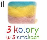 Wata cukrowa na wesele, urodziny 1l,3 kolory/smaki