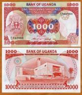UGANDA 1000 Shillings 1986 P-26 UNC