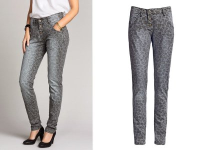 f0ec08429605a9 SPODNIE DAMSKIE jeansy panterka klasyczne 50 - 6329259000 ...