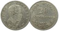 30.WŁOCHY, VIC.EMANUEL II, 20 CENTESIMI 1863 M