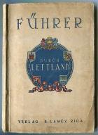 ŁOTWA : LETTLAND -- przewodnik mapa plan -- 1925