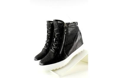 Sneakers Ażurowe Biała Podeszwa Jt14 Black r.40