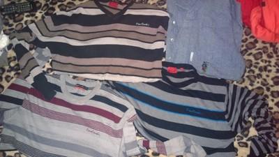 3 swetry PIERRE CARDIN  - koszula elegant ADIDAS -