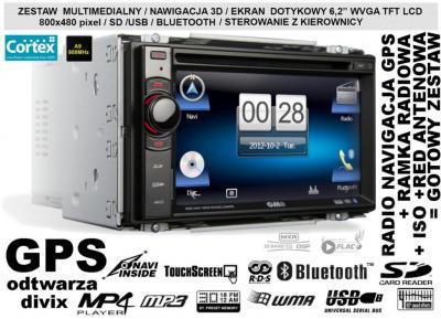 RADIO NAWIGACJA DVD USB AUX RAMKA 2DIN FIAT CROMA
