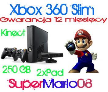 Xbox 360 250gb 2xpad Kinect 26 Gier Gw12 5968505986 Oficjalne Archiwum Allegro