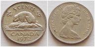 Kanada 5 centów 1972r