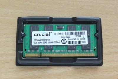 PAMIĘĆ DDR2 2GB PC2-6400S 800MHz CRUCIAL NOWA 36gw