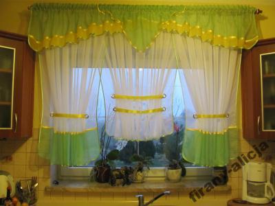 Piękne Firany Kuchnia Pokój Panele Wachlarze180cm