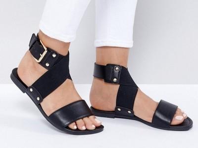 NEW LOOK Czarne Sandały Damskie 37