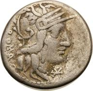 Rzym - Republika AR-denar M. Calidius 117/116 pne