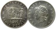 7.WŁOCHY, 200 LIRÓW 1993 100 L.NARODOWEGO BANKU