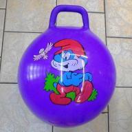 Piłka do skakania skoczek z uchwytem Smerfy kolory