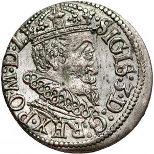 1215. Zg.III Waza, Trojak, Ryga 1619, st.2+ RZADKI