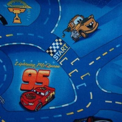 niebieski dywan Cars 70x200 cm AUTA wyprzedaż
