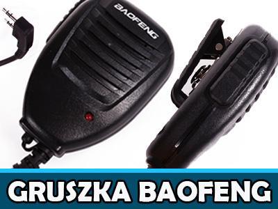 Mikrofonogłośnik Baofeng wtyk typu K Gruszka PTT