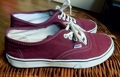 vans authentic bordowe 39