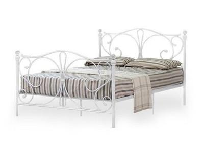 łóżko 140x200 Do Sypialni Ze Stelażem Białe 6801224940