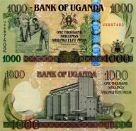 # UGANDA- 1000 SZYLINGÓW - 2008- P43c - UNC s.zast