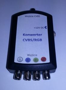 Konwerter CVBS FBAS (kamera) na RGB (nawigacja)