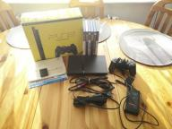 PLAYSTATION 2 PS2 SLIM FULL ZESTAW, FMCB, 6 GIER!